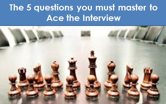 the 5 questions you must master to ace the interview